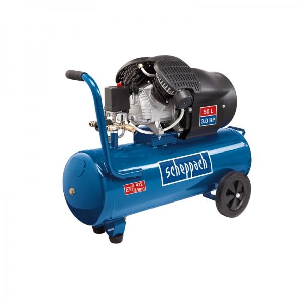 Compresor cu doi cilindri HC52DC Scheppach SCH5906101901 1500 W 50L 8 bari