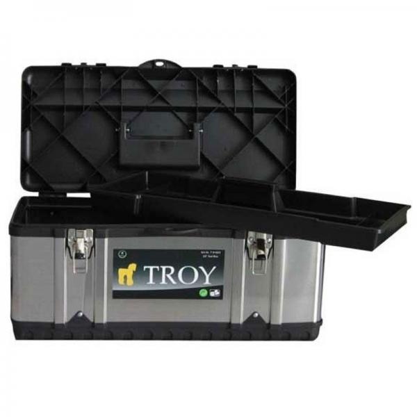 Cutie de scule invelita in tabla zincata (39 x 17 x 17 cm) Troy T91016