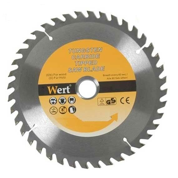 Disc de taiere lemn tip TCT pentru fierastrau circular Wert W2540 115 O115 mm