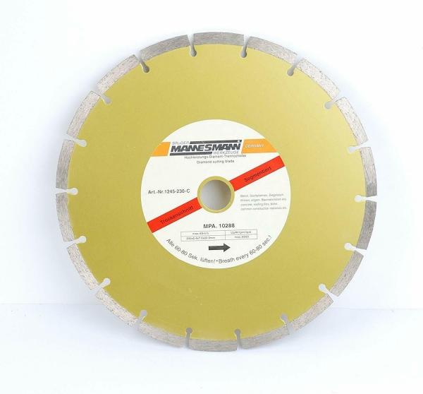 Disc diamantat segmentat pentru fierastrau circular Mannesmann M1245 230 O230 mm