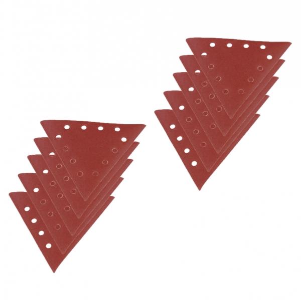 Set discuri abrazive triunghiulare pentru masinile de slefuit Scheppach SCH7903800602 granula ie 100 10 bucati