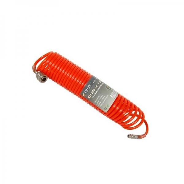 Furtun aer comprimat spiralat 15 m Troy T18615 5 mm