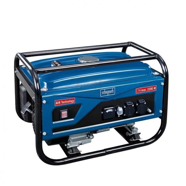 Generator de curent pe benzina SG2500 Scheppach SCH5906201901 2200 W 6.5 Cp CNL