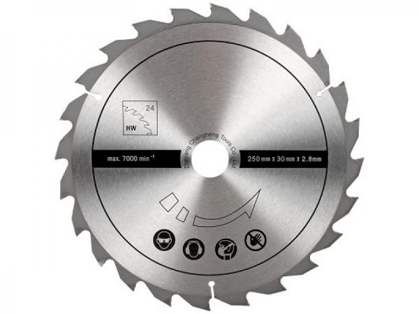 Disc pentru fierastrau circular taiere lemn Scheppach SCH7901301602 O250 x 30 mm 24 dinti
