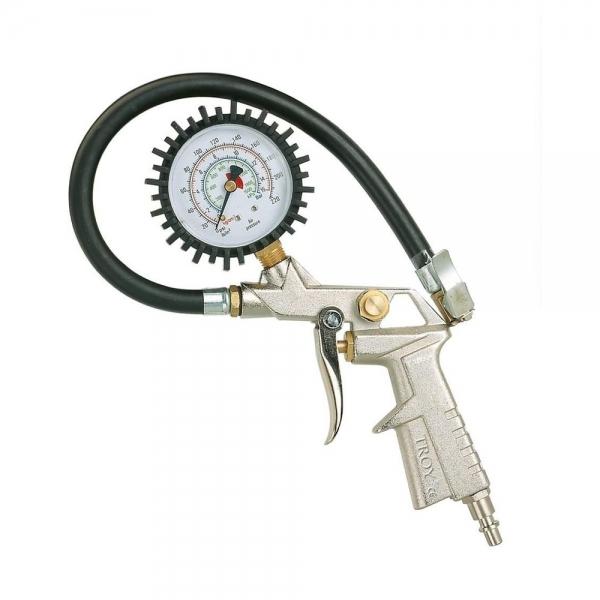 Pistol pentru umflarea anvelopelor cu manometru Troy T18604 10 bari