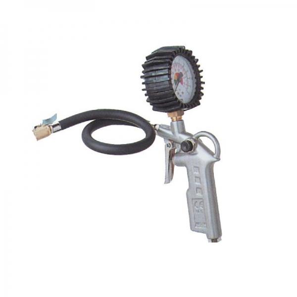 Pistol pentru umflarea anvelopelor cu manometru Guede GUDE2819 12 bari