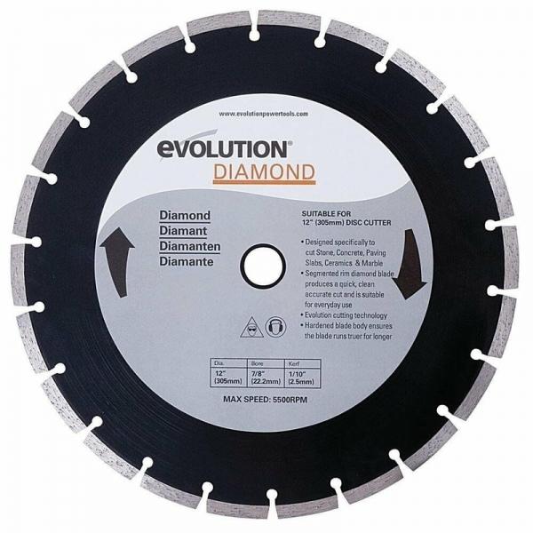 Disc pentru fierastrau circular taiere marmura piatra Evolution EVORAGEBLADE305DIAMOND 8105 O305x22.2 mm