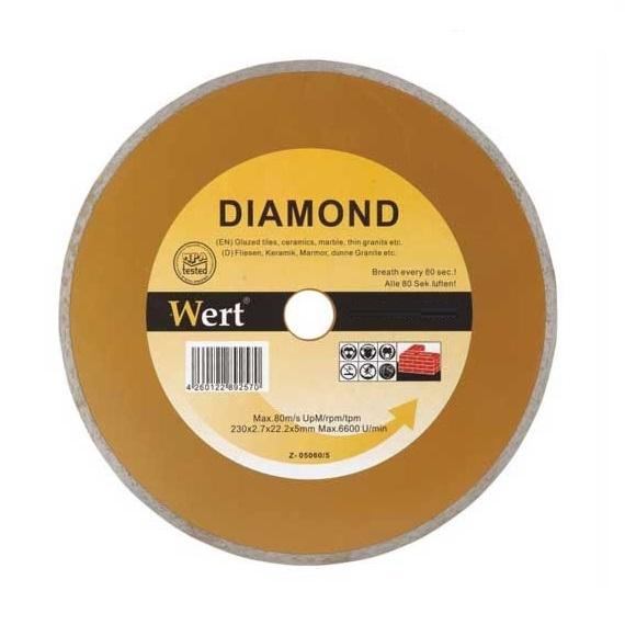 Disc diamantat taiere marmura granit faianta Wert W2710 115 O115x22.2 mm