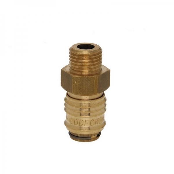 Mini conector aer comprimat cu filet exterior Ludecke LUDESM18A 1 8