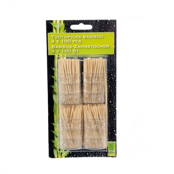 Scobitori bambus 4 x 100 bucati